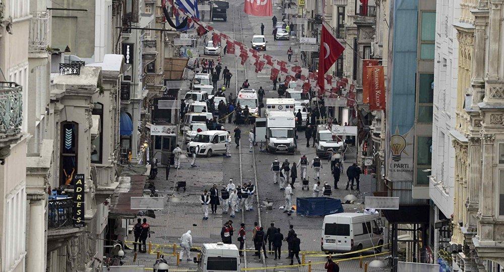 Lugar del atentado en Estambul