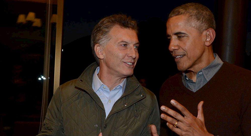 Presidente de Argentina, Mauricio Macri, y el presidente de EEUU, Barack Obama