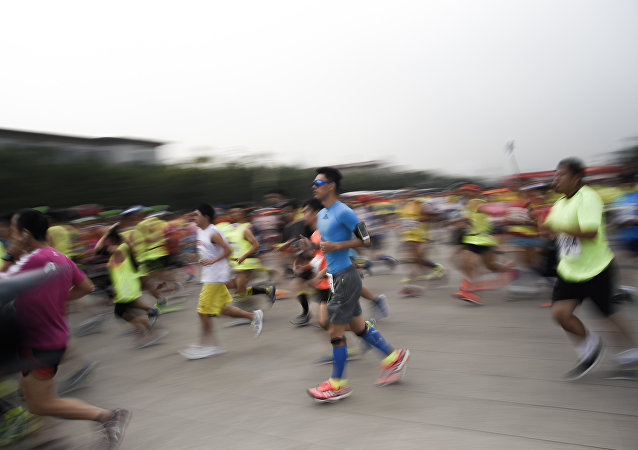 Maratón en China (archivo)