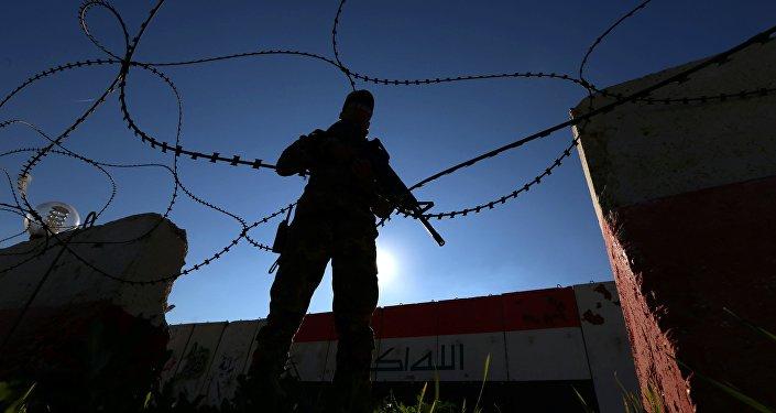 Un militar iraquí