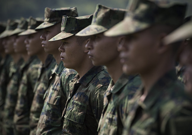 Soldados tailandeses (archivo)