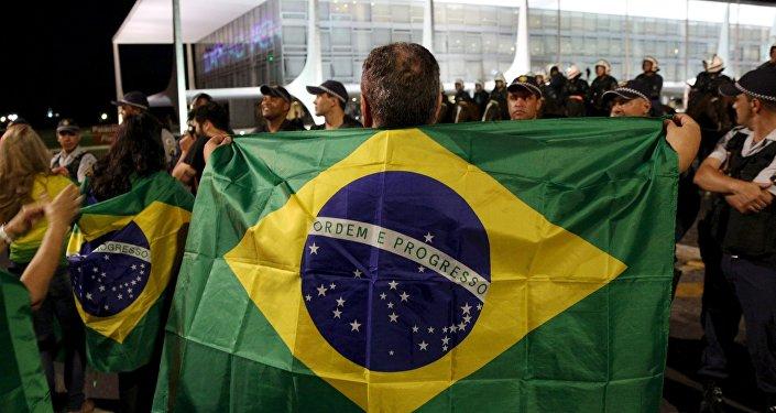 Brasileños protestan contra el Gobierno (Archivo)