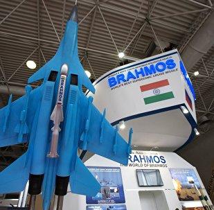 Un misil Brahmos (archivo)