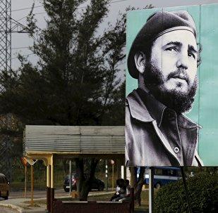 Una imagen de Fidel Castro en las calles de la Habana