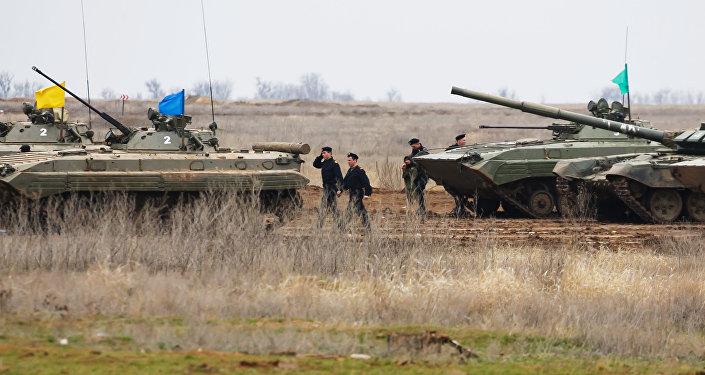 Militares rusos en la región de Volgogrado