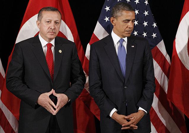 Presidente de Turquía, Recep Tayyip Erdogan y presidente de EEUU, Barack Obama