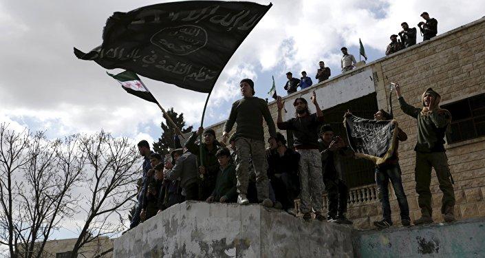 Partidarios de Al Qaeda en Idlib, Siria (archivo)