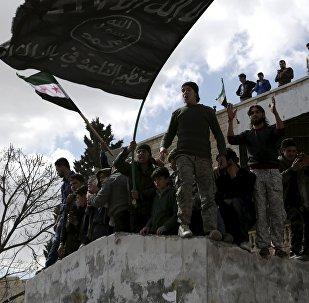 Bandera de Al-Qaeda (archivo)