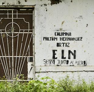 Grafiti del ELN (Ejército de Liberación Nacional ) en Colombia