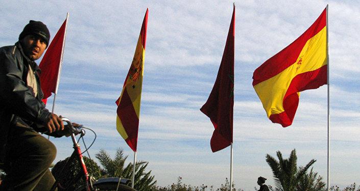 Banderas de España y Marruecos