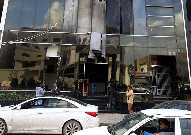 Sede del canal vía satélite Al Nabaa en Trípoli (archivo)