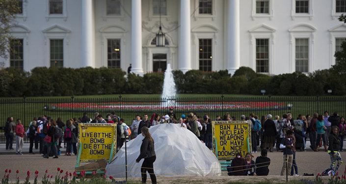 Protestas contra la Cumbre de Seguridad Nuclear en Washington