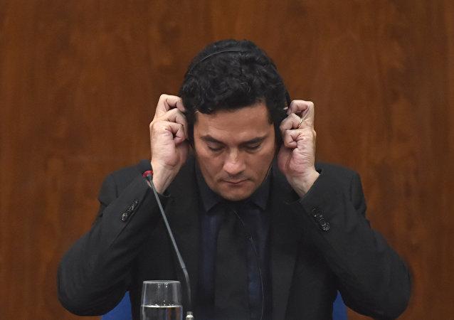 Sérgio Moro, exjuez y actual ministro de Justicia de Brasil (archivo)