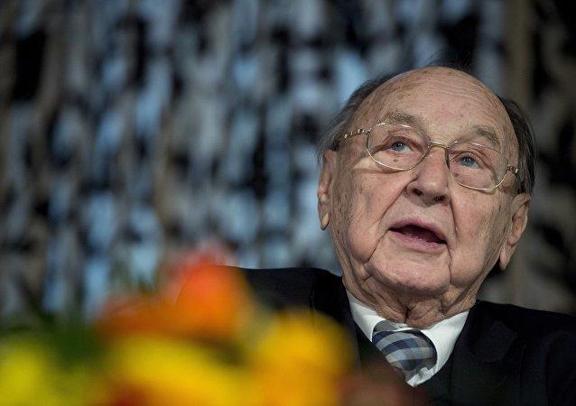 Hans-Dietrich Genscher, el exministro de Exteriores de Alemania (archivo)