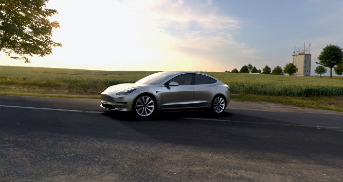 Un coche de Tesla Motors