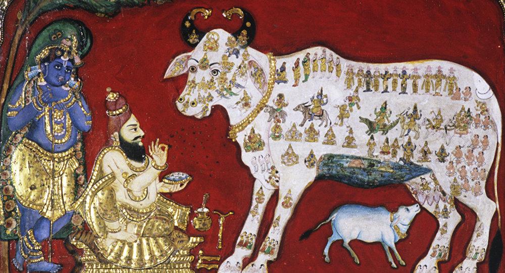 Vaca en la pintura india del siglo XVIII