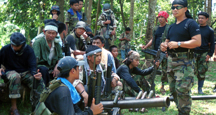 Milicianos de Abu Sayyaf
