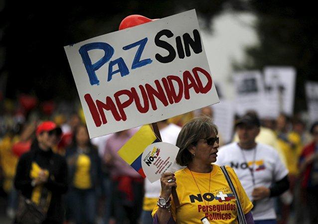 Marcha contra el diálogo con las FARC, Bogotá