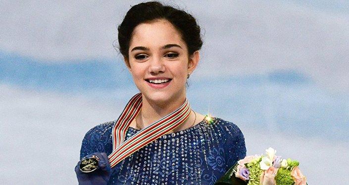 Evguenia Medvédeva, patinadora rusa