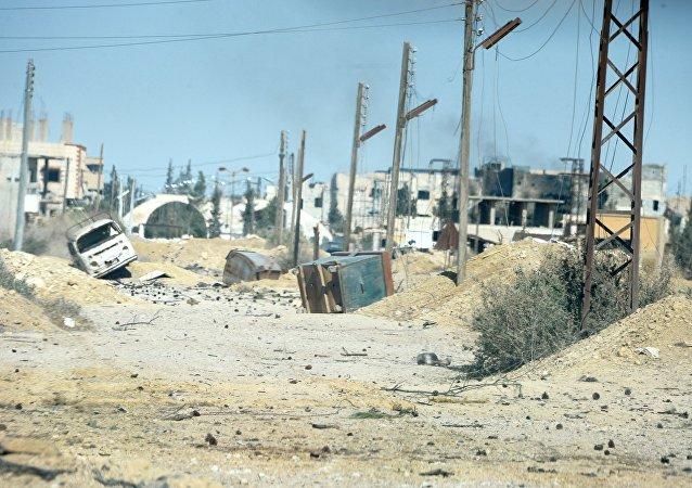 La ciudad de Al Qaryatayn, recién liberada de los terroristas