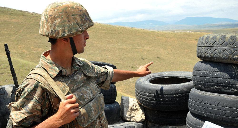 Un soldado armenio (archivo)