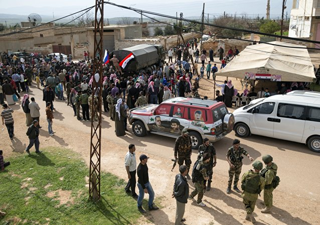 Ayuda humanitaria rusa llega a Hama, Siria (archivo)