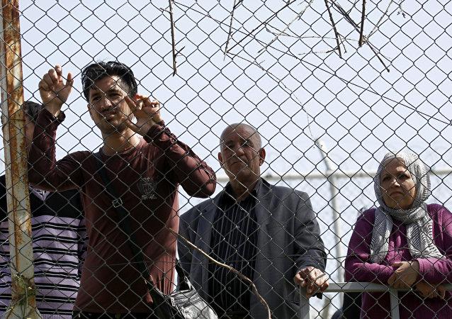 Migrantes en Grecia