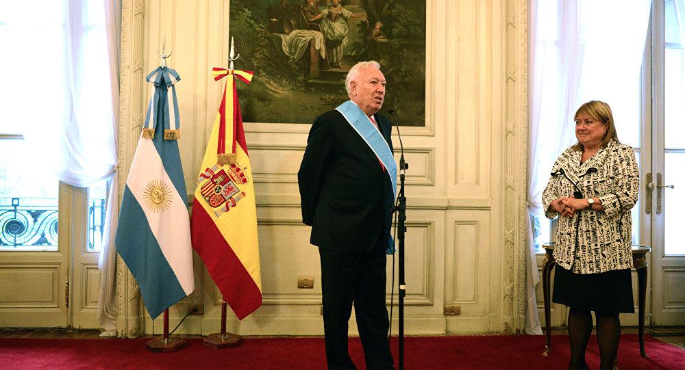 Ministro de Exteriores de España, José Manuel García-Margallo, y ministra de Exteriores de Argentina, Susana Malcorra