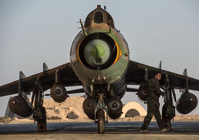 Una base de las Fuerzas Aéreas de Siria