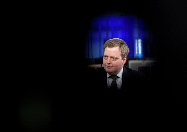 Sigmundur David Gunnlaugsson, primer ministro de Islandia
