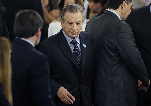 Franco Macri, padre de Mauricio Macri, presidente de Argentina (archivo)