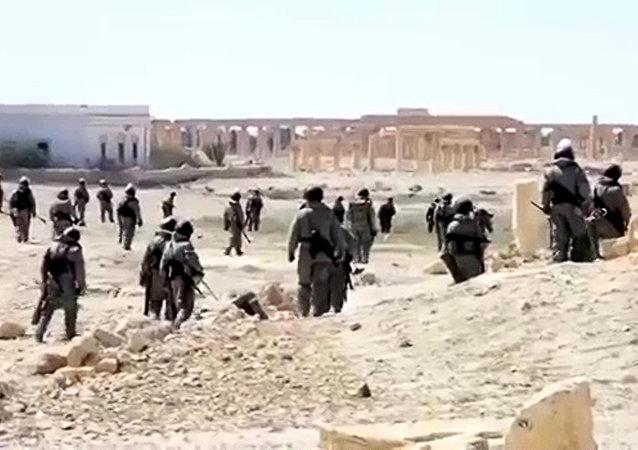 Zapadores rusos en Palmira
