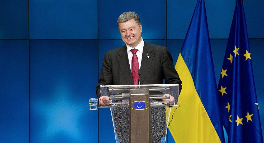 Petró Poroshenko, el presidente de Ucrania, en el Consejo Europeo en Bruselas