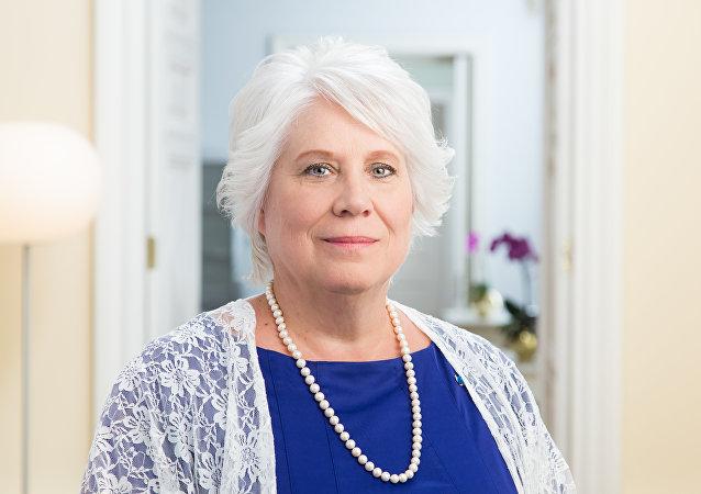 Marina Kaljurand, ministra de Exteriores de Estonia