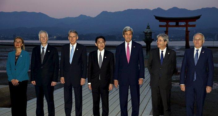 Los ministros de Exteriores de los países del G7