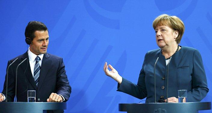 Presidente de México, Enrique Peña Nieto, y canciller de Alemania, Angela Merkel