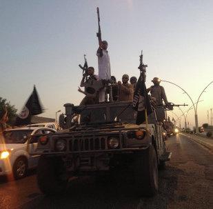 Militantes de Daesh en Mosul, Irak (archivo)