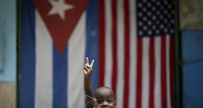 Banders de Cuba y EEUU
