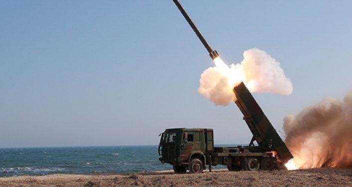 Lanzamiento de un misil en Corea del Norte