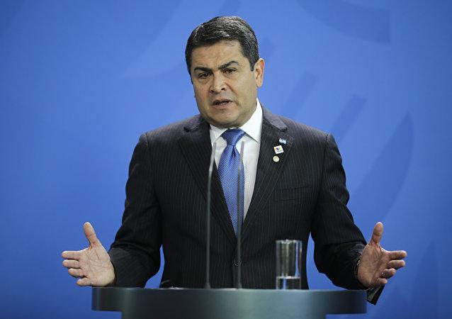 Juan Orlando Hernández, el presidente de Honduras (archivo)
