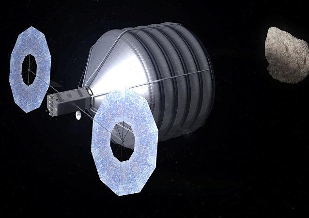 Aeronave diseñada para capturar un asteroide y arrastralo hacia Tierra