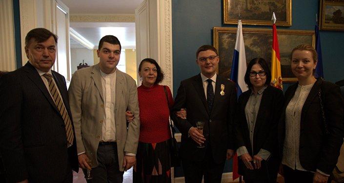 La condecoración de Vasili Tsereteli