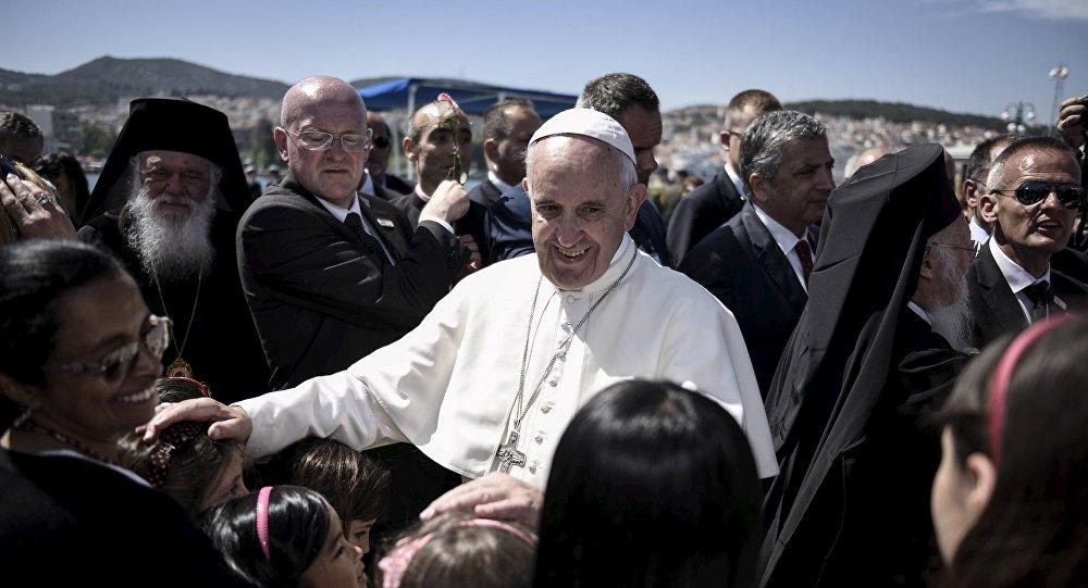 Papa Francisco en Lesbos