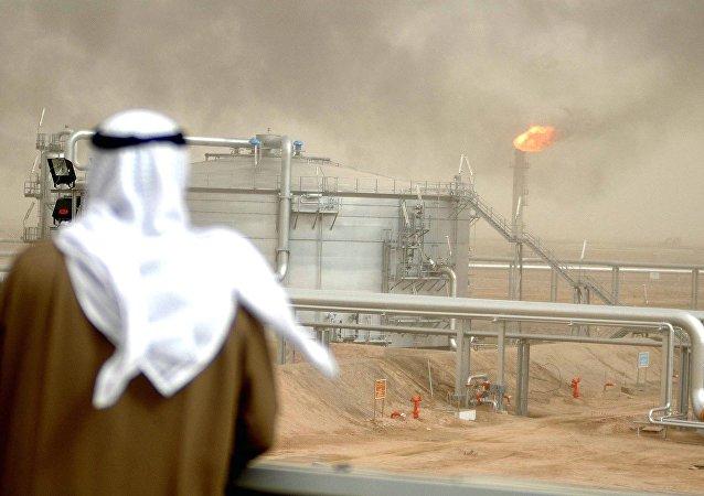 Campo pertolífero en Kuwait