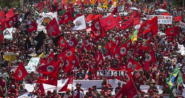 Manifestaciones contra el impeachment a Rousseff