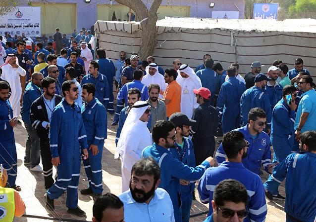 Huelga de trabajadores del petróleo en Kuwait