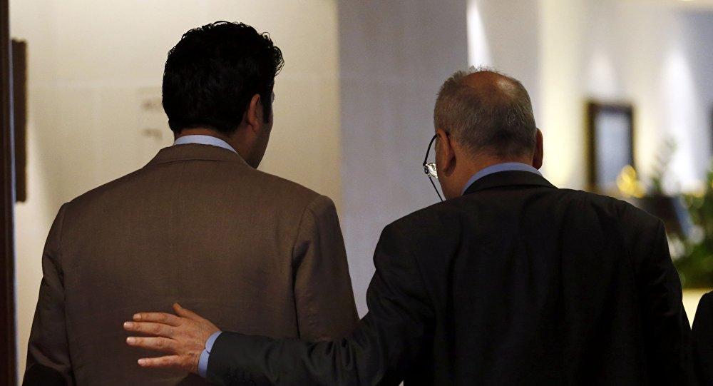 Miembros del Alto Comité de Negociaciones (ACN) en Ginebra