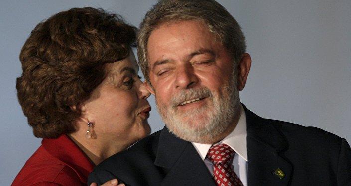 Expresidenta brasileña, Dilma Rousseff, y expresidente, Luiz Inácio Lula da Silva (archivo)