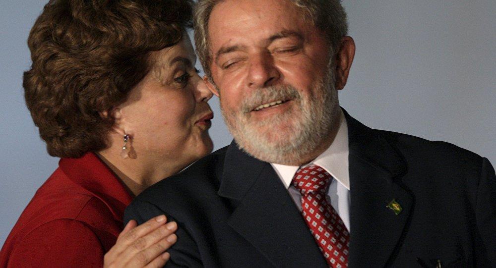 Presidenta de Brasil, Dilma Rousseff, y expresidente del país, Luiz Inácio Lula da Silva