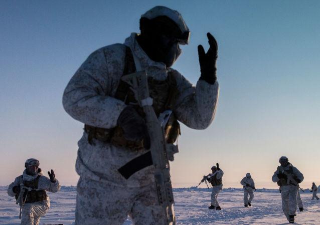 Fuerzas especiales chechenas en Ártico